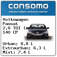 Consum Volkswagen Passat 2.0 TDI 140 CP